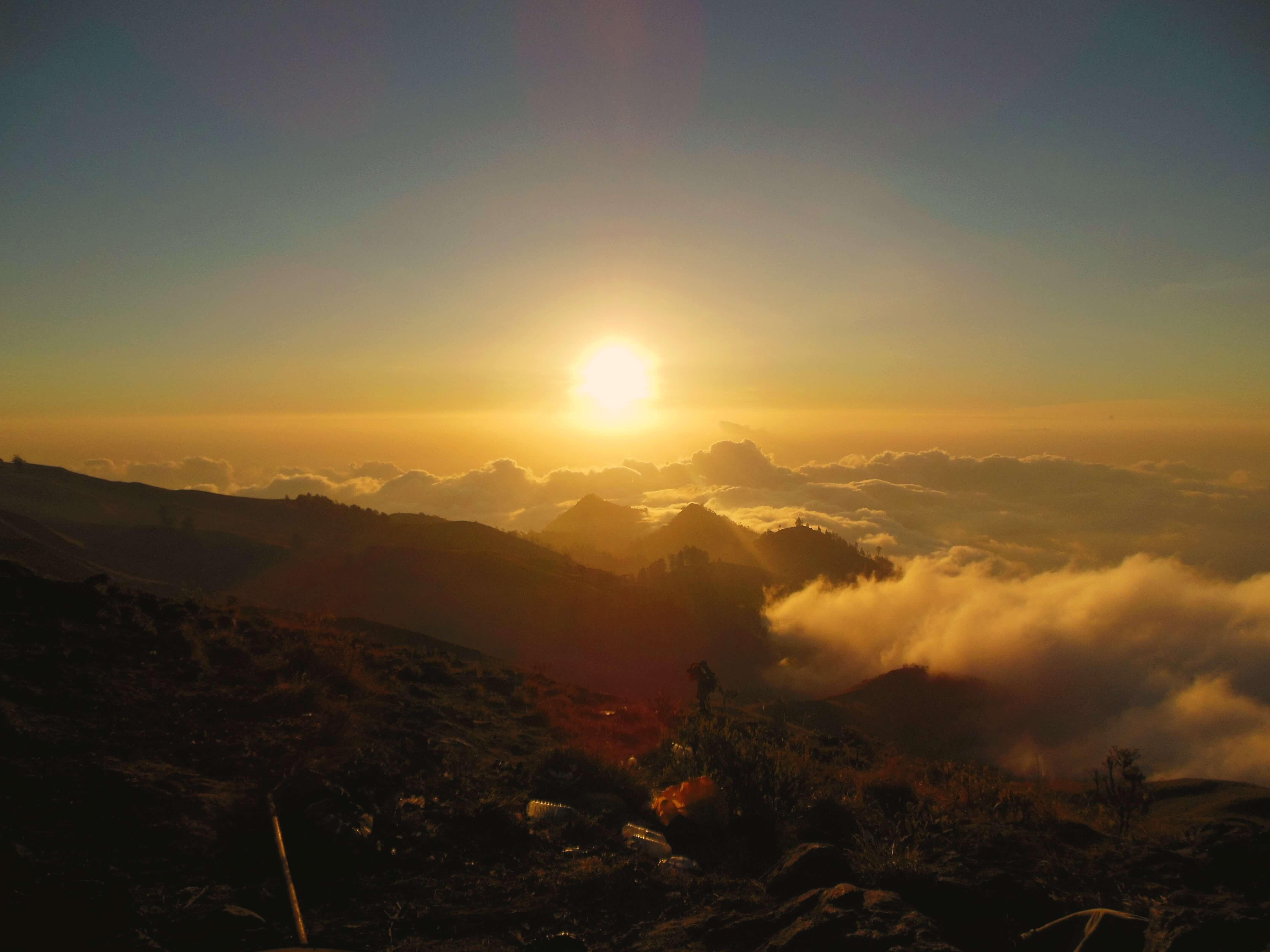 Sonnenuntergang Gunung Rinjani