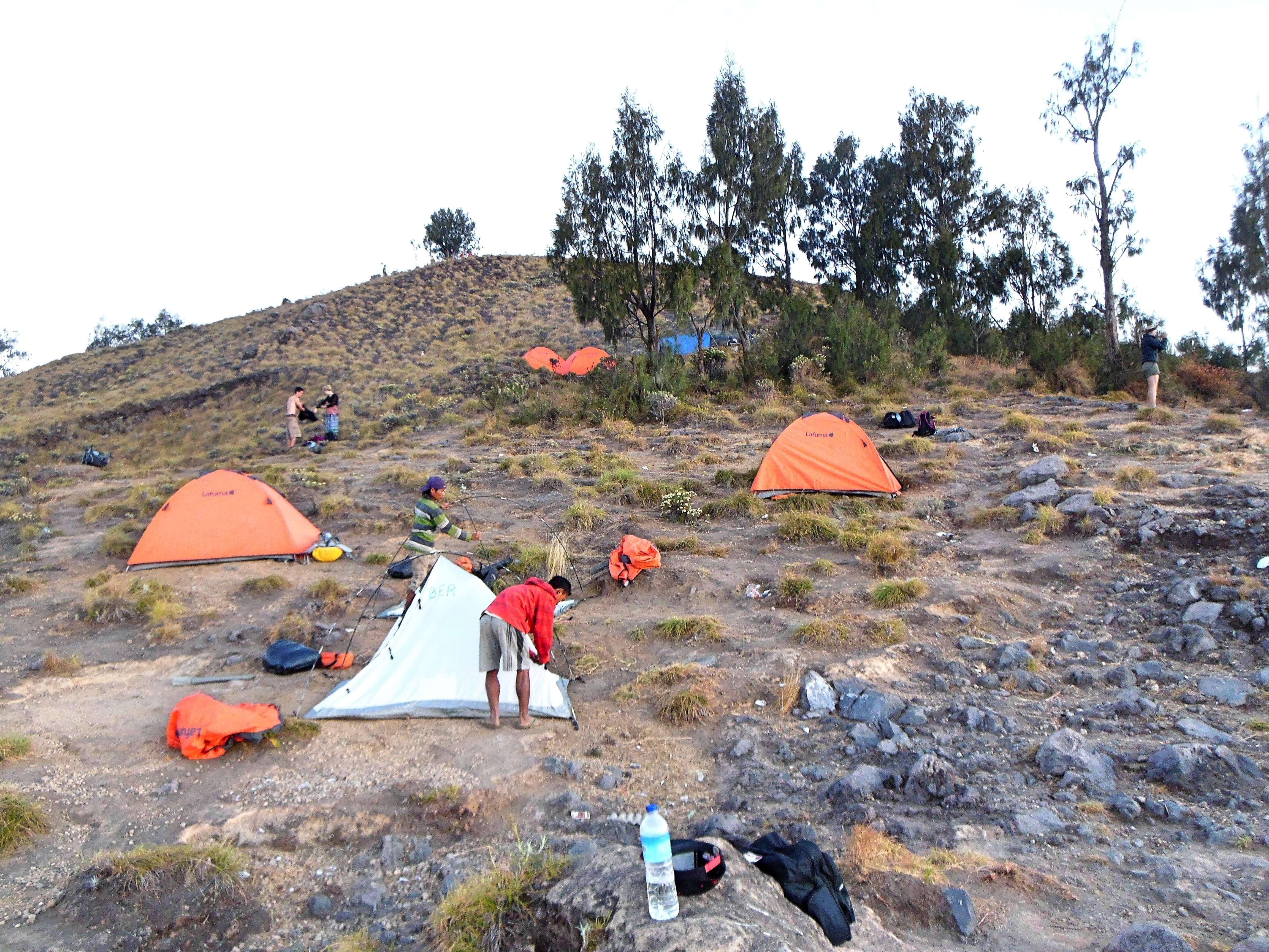 Unser Camp auf dem Kraterrand