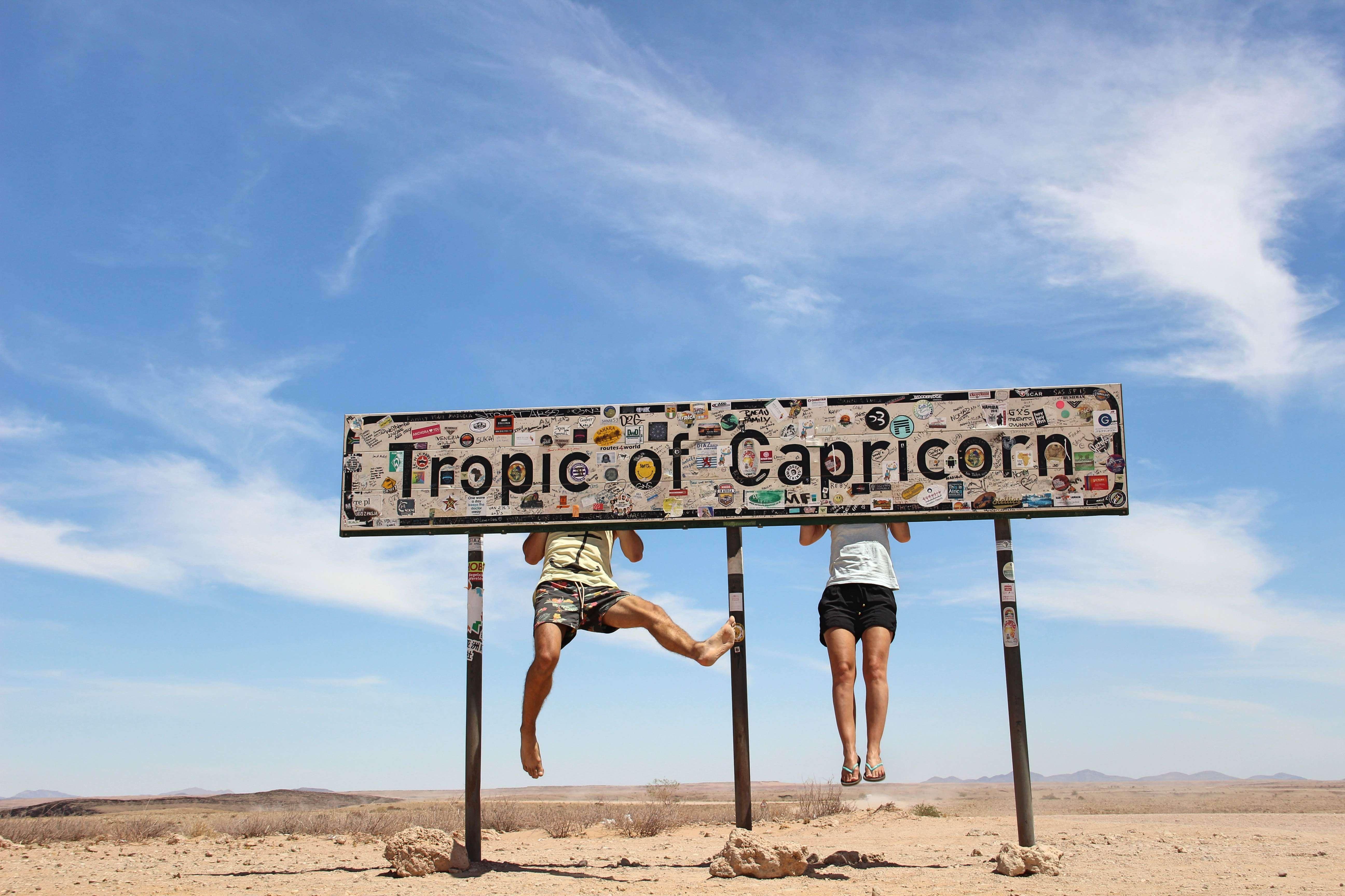 Weltreise_Backpacking_Namibia_Namib_Tropic_of_Capricorn