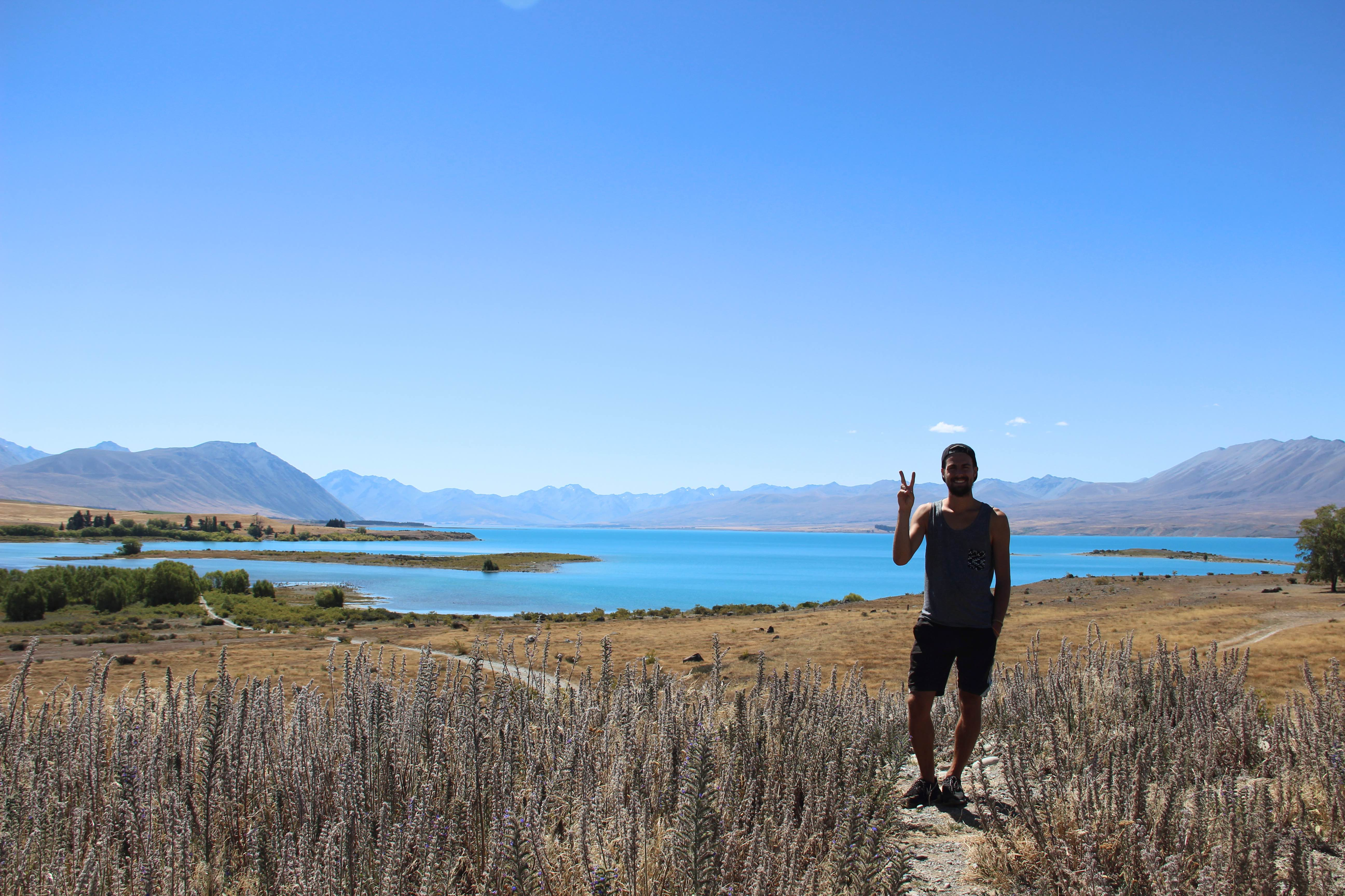 Weltreise_Backpacking_Neuseeland_Lake_Tepako