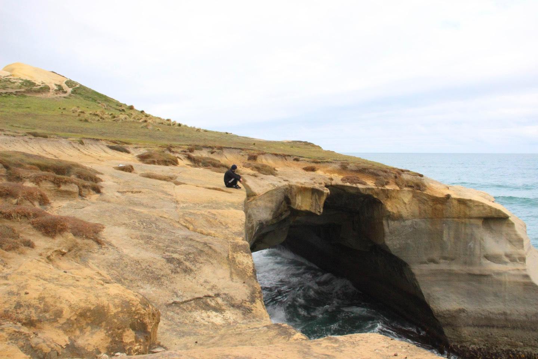 Weltreise_Backpacking_Neuseeland_Tunnel_Beach