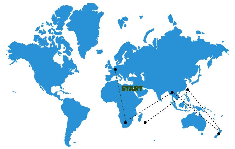 Weltreise_Reiseroute